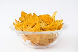 Nachos. Isolated photo