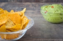 Nachos and guacamole