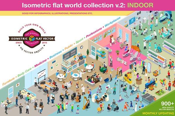 Isometric flat world collection v.2