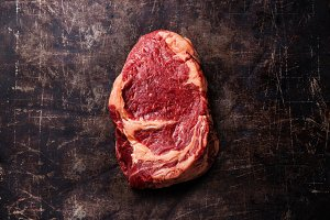 Raw fresh meat Ribeye Steak