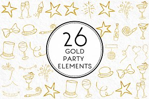 Gold Party Elements