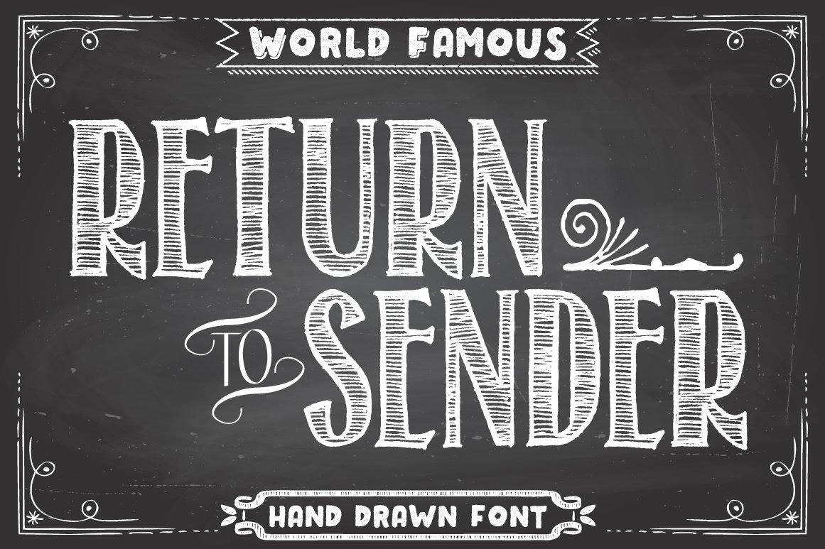 return to sender font fonts creative market