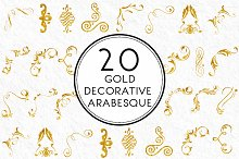 Gold Decorative Arabesque