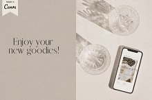 Cafe Society Canva Template Bundle by  in Mockups