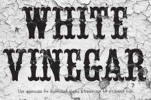 White Vinegar Font