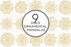 Gold Ornamental Mandalas