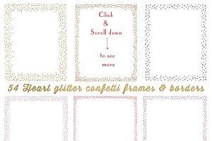 54 glitter confetti frames & borders