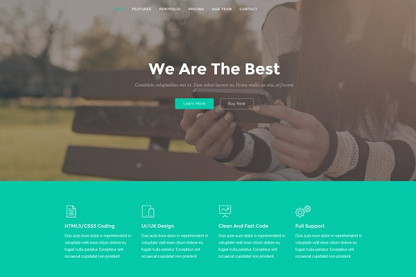 Bootstrap Themes - Lane - Landing Page Template
