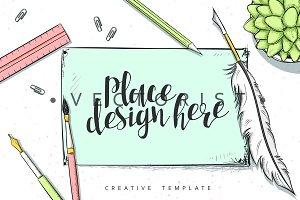Mockup design concept in sketch