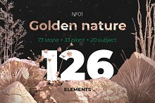 Golden nature collection #01 by  in Graphics