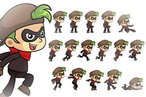 Thief Boy Game Sprites