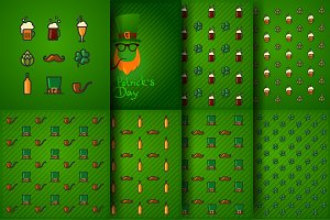 vector set icons St. Patrick`s Day