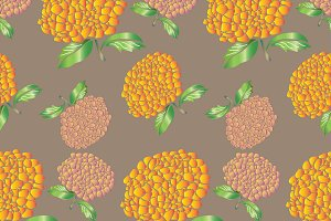 Fresh Blossoms Seamless Pattern