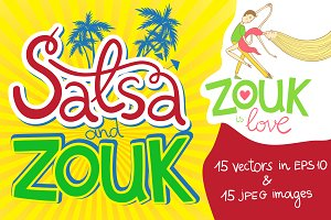 Salsa and zouk vectors and JPEG