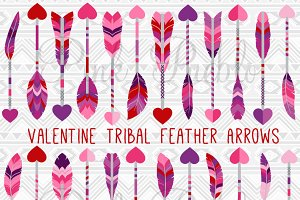 Valentine's Day Feather Arrows