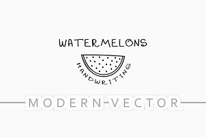 Watermelon modern background