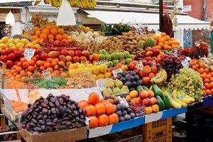 Street food market in Europe