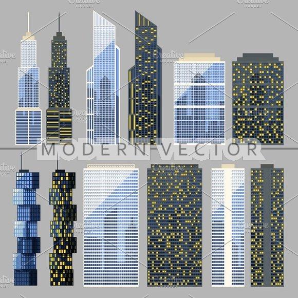 Skyscraper. Buildings - Objects