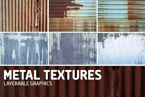 Metal Texture Overlays-Pack of 6