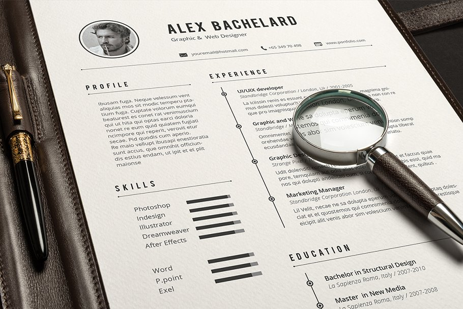 Alex Resume ~ Resume Templates ~ Creative Market