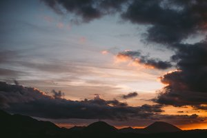 Stunning sunset over the mountains