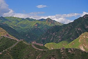 Great Wall in Mountains