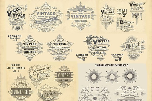 Sanborn Vector Elements Bundle Pack