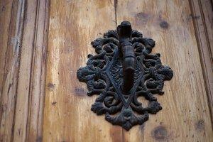 wooden door in Spain