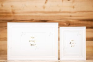 White Frames Photo-based mockup