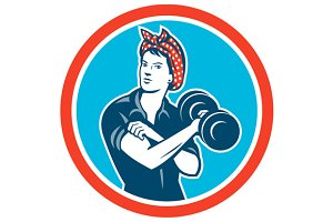 Bandana Woman Lifting Dumbbell
