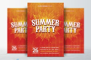Summer / Retro Party Flyer