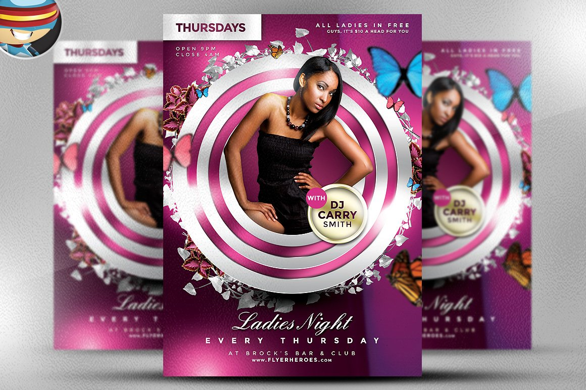 Ladies Night PSD Flyer Template ~ Flyer Templates ...