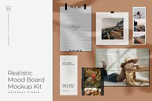 Realistic Moodboard Mockup Kit by  in Mockups