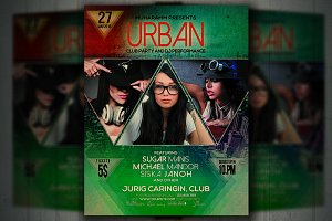 Urban Beat Party Flyer / Poster
