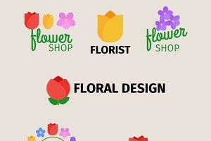 Floral and gardening logos