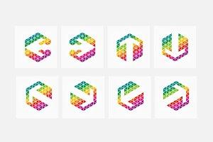 Colorful Pixel Arrows