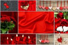 Valentines Day. Red