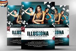Illusiona PSD Flyer Template