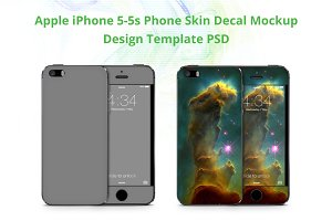 iPhone 5-5S Phone Skin Design Mockup