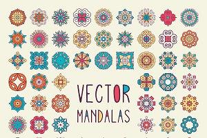 72 Vector Mandalas