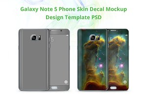 Galaxy Note 5 Phone Skin Mockup