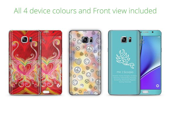 Galaxy Note 5 Phone Skin Mockup in Product Mockups - product preview 1