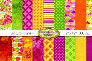 18 Digital Festive Colors Paper Pack