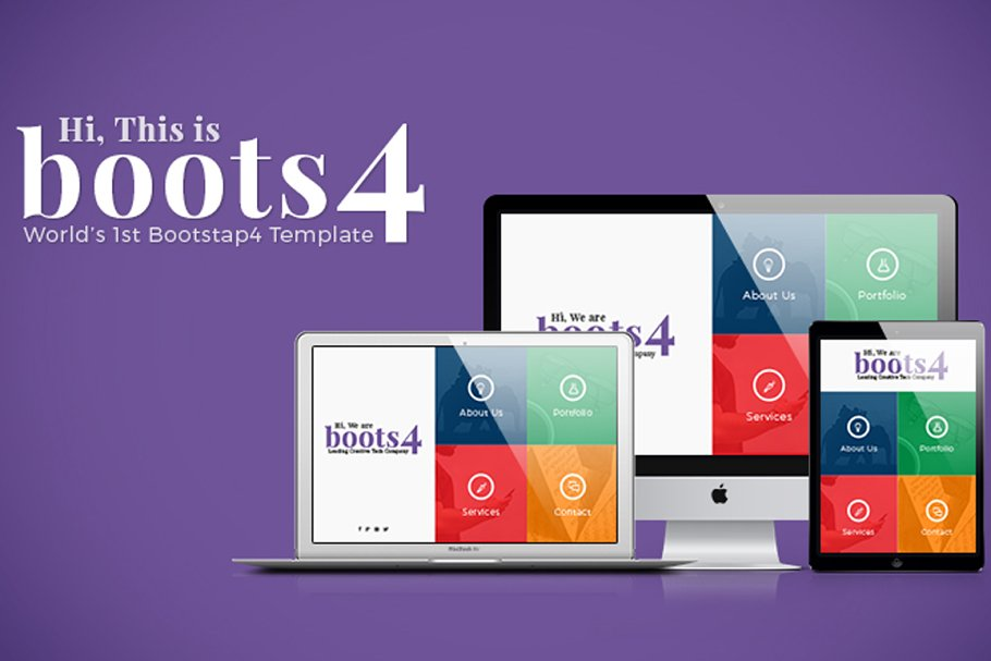 Boots4 Creative Bootstrap 4 Template ~ Bootstrap Themes