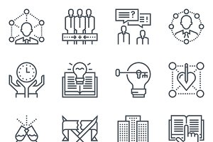 Business and employment icon set