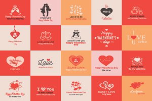Valentines Day Badges