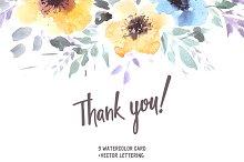 Romantic Watercolor Cards