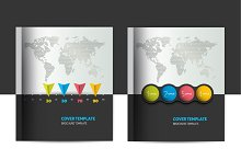 Brochure, flyer cover template.