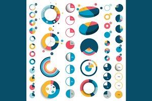 Set of circle charts.