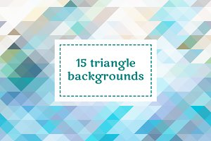15 triangle backgrounds